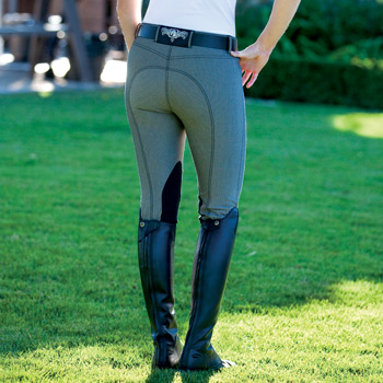 Romfh International Denim Knee Patch Breeches in Black
