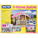 Breyer Classics Pink 3-Horse Stable 688