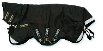 Rambo Supreme Medium 200g Turnout in Black and Black