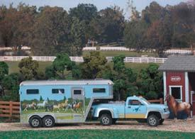 Breyer Stablemates Blue Truck And Gooseneck Trailer 5350