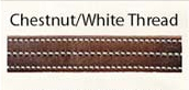 Walsh Chestnut Leather Laura Kraut British Halter with Throat Snap