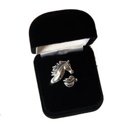 Kabana Sterling Silver  Adjustable Horse Ring