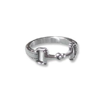 kabana sterling silver snaffle bit ring
