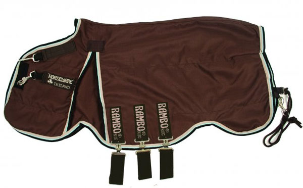 Rambo Optimo Stable Sheet in Brown and Tan