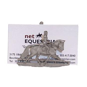 Pewter dressage business card holder colourmoves