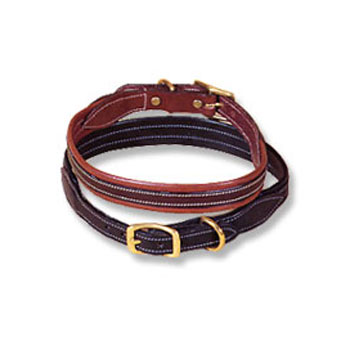 Tory Padded Leather Dog Collar