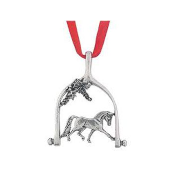 Dressage Holly Ornament