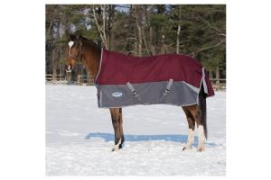 Weatherbeeta Freestyle 1200D Detach-A-Neck Medium 220g Turnout in Burgundy and Grey