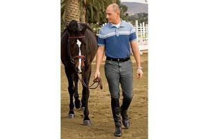 TuffRider Men's Patrol Breeches in Charcoal