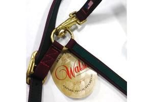 Walsh Two-Tone Victory Halter - Burgundy/Hunter