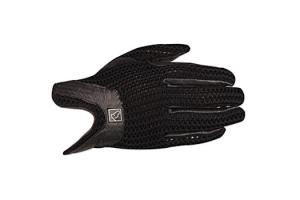 SSG Ladies Lycrochet Horseshoe Gloves in Black