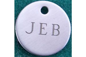 Nickel Round Bridle Tag