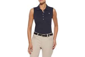 Ariat Prix Sleeveless Polo Shirt in Navy Eclipse