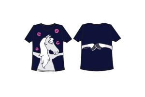 Irideon Kids XOXO Tee in Navy