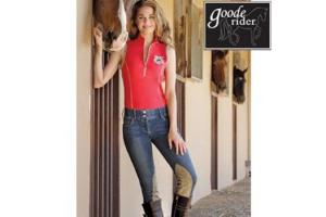 Goode Rider Jean Rider Knee Patch Breeches in Indigo Denim