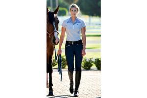 Romfh Sarafina Euro Seat Knee Patch Breeches in Navy