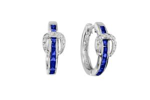 Kelly Herd Buckle Dangle Earrings Sapphire Blue