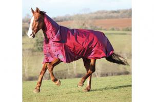 Shires Stormcheeta Heavy 400g Combo Turnout Rug in Poppy Red
