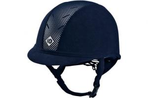 Charles Owen Midnite Blue and Silver AYR8 Helmet