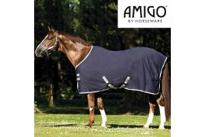 Amigo Pony Lite Turnout 1200D Navy and Silver