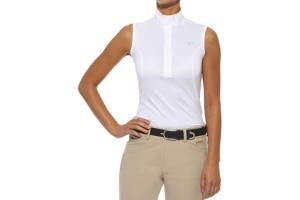 Ariat Women's Aptos Sleeveless Show Shirt in White