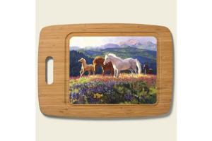 Wild Horses Bamboo Cutting Board