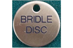 Satin Engraved Round Bridle Tag