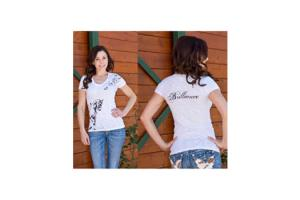 Cowgirls For A Cause Brilliance Dressage Tee Shirt in White