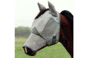 Cashel Crusader Long Fly Mask with Ears - Double Velcro, Size: Horse