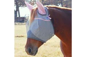 Cashel Tuff Enuff to Wear Pink Long Fly Mask - Double Velcro, Size: Horse