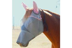 Cashel Tuff Enuff to Wear Pink Long Fly Mask - Single Velcro
