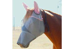 Cashel Tuff Enuff to Wear Pink Long Fly Mask - Double Velcro, Size: Draft