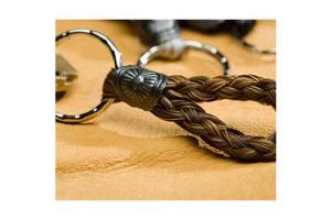 Six-Strand Loop Horse Hair Key Chain by Cowboy Collectibles