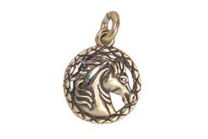 Sterling Silver Lasso Horse Charm