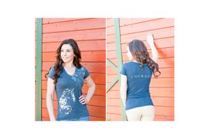 Cowgirls for a Cause Courage Tee Shirt in Blue