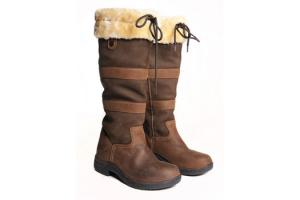 Dublin Women's Eskimo Fleece River Boots in Brown