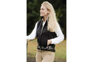 Equine Couture Valencia Suede Vest in Black