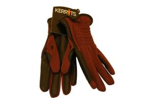 Kerrits Ladies Softshell Winter Riding Gloves in Blackberry
