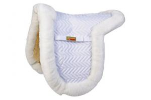 Fleeceworks Dressage Classic FullPad in White