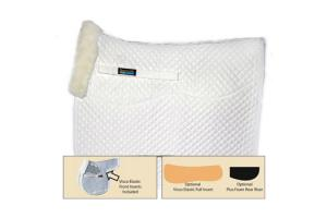 Fleeceworks Therawool Perfect Balance Dressage Square Pad in White
