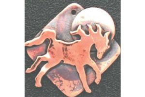 Ildanach Studio Recycled Copper Frolicking Horse Pendant Necklace