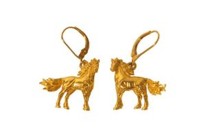Kabana 14k Gold Magnificent Horse Earrings