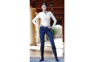 Goode Rider Horsebit Jean Rider Full Seat Breeches in Dark Rinse