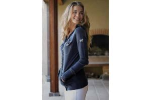 Goode Rider Hoodie Sweater in Navy