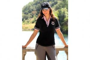 Goode Rider Iconic Polo in Black