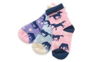 Kids' Socks in Starry Night Horses