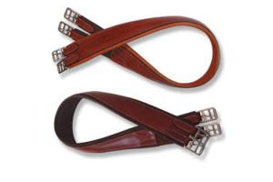 Americana Shaped Leather Overlay Girth