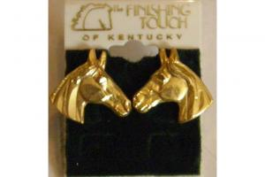Gold Horse Head Earrings