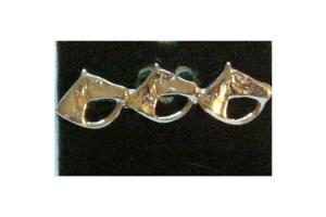 Three Horses Stock Pin