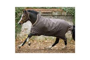 Rhino Pony Wug Medium 200g Turnout  in Brown and Tan Checks